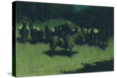 Scare in a Pack Train, 1908-Frederic Remington-Stretched Canvas Print