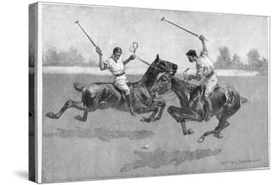 Polo Players, 1890-Frederic Remington-Stretched Canvas Print