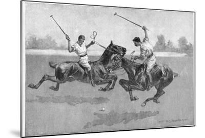 Polo Players, 1890-Frederic Remington-Mounted Giclee Print