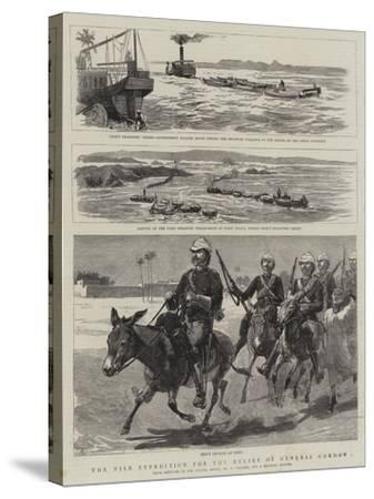 The Nile Expedition for the Relief of General Gordon-Frederic Villiers-Stretched Canvas Print