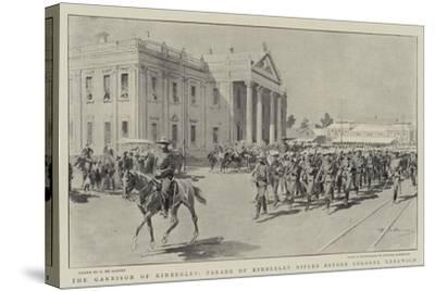 The Garrison of Kimberley, Parade of Kimberley Rifles before Colonel Kekewich-Frederic De Haenen-Stretched Canvas Print