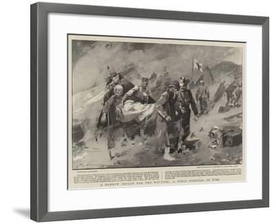A Narrow Escape for the Wounded, a Field Hospital on Fire-Frederic De Haenen-Framed Giclee Print