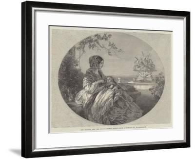 Her Majesty and the Infant Prince Arthur-Franz Xaver Winterhalter-Framed Giclee Print