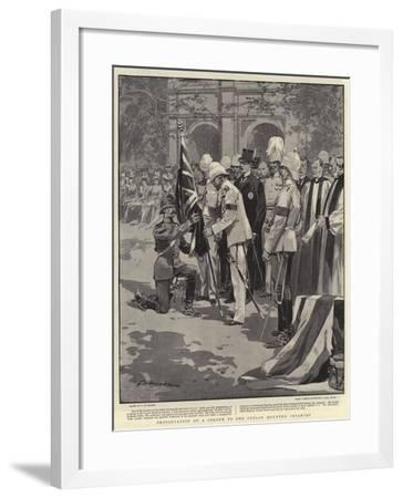 Presentation of a Colour to the Ceylon Mounted Infantry-Frederic De Haenen-Framed Giclee Print