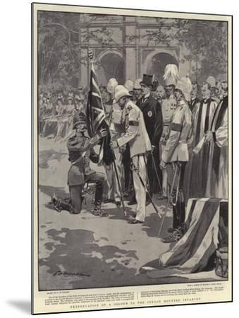 Presentation of a Colour to the Ceylon Mounted Infantry-Frederic De Haenen-Mounted Giclee Print