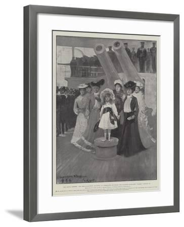 The Naval Review-Fred T. Jane-Framed Giclee Print