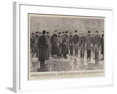 Canadian Roughriders for South Africa, Lord Minto Wishing the Officers Farewell at Ottawa-Frederic De Haenen-Framed Giclee Print