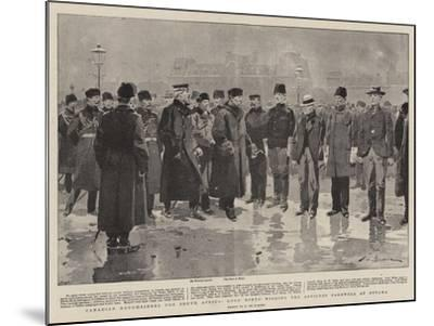 Canadian Roughriders for South Africa, Lord Minto Wishing the Officers Farewell at Ottawa-Frederic De Haenen-Mounted Giclee Print