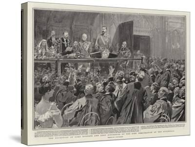 The Reception of Lord Roberts and Lord Kitchener by the City Corporation at the Guildhall-Frederic De Haenen-Stretched Canvas Print