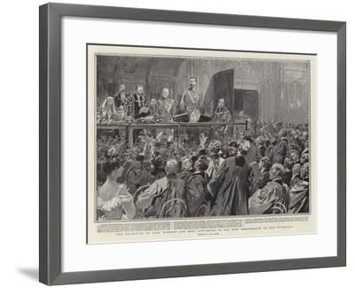 The Reception of Lord Roberts and Lord Kitchener by the City Corporation at the Guildhall-Frederic De Haenen-Framed Giclee Print