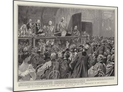The Reception of Lord Roberts and Lord Kitchener by the City Corporation at the Guildhall-Frederic De Haenen-Mounted Giclee Print