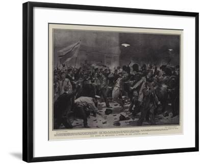 The Riots in Brussels, a Fight in the Avenue Louise-Frederic De Haenen-Framed Giclee Print