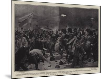 The Riots in Brussels, a Fight in the Avenue Louise-Frederic De Haenen-Mounted Giclee Print