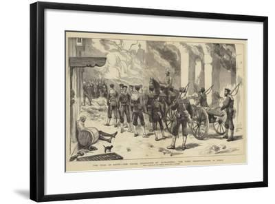 The War in Egypt, the Naval Occupation of Alexandria, the First Reconnaissance in Force-Frederic Villiers-Framed Giclee Print