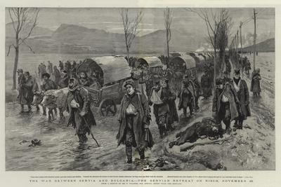 The War Between Servia and Bulgaria, the Servian Retreat on Nisch, 26 November-Frederic Villiers-Framed Giclee Print