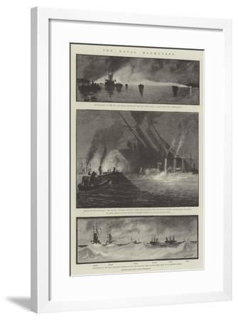 The Naval Manoeuvres-Fred T. Jane-Framed Giclee Print