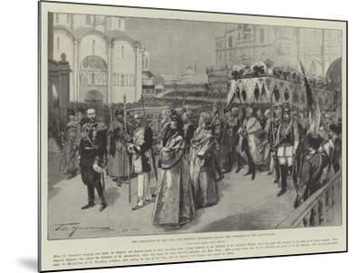 The Coronation of the Czar, the Imperial Procession Leaving the Cathedral of the Annunciation-Frederic De Haenen-Mounted Giclee Print