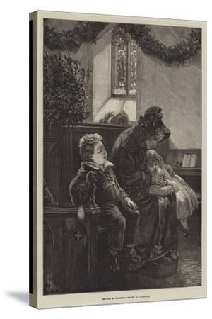 Rest and Be Thankful-Frederick Barnard-Stretched Canvas Print