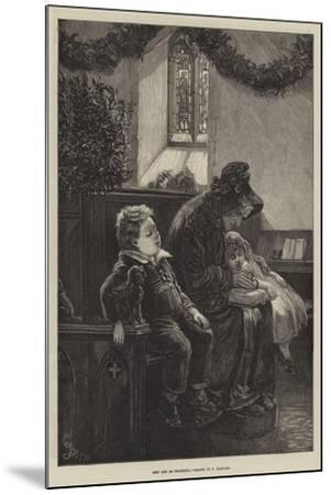 Rest and Be Thankful-Frederick Barnard-Mounted Giclee Print