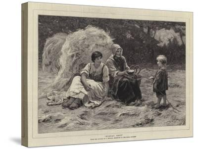 Midday Rest-Frederick Morgan-Stretched Canvas Print