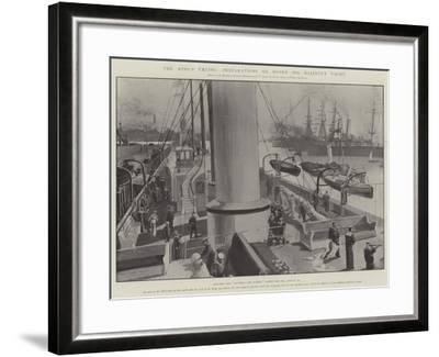 The King's Cruise, Preparations on Board His Majesty's Yacht-Fred T. Jane-Framed Giclee Print