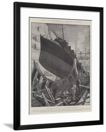 A Test of the Seaworthiness of Torpedo-Boat Destroyers-Fred T. Jane-Framed Giclee Print