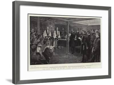 For Those in Peril on the Sea, Sunday Service on Board the Ophir-Frederic De Haenen-Framed Giclee Print