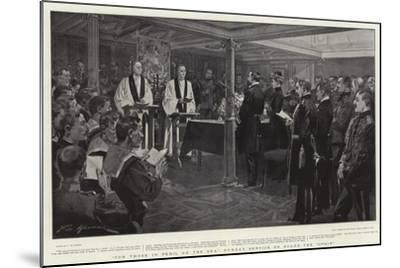 For Those in Peril on the Sea, Sunday Service on Board the Ophir-Frederic De Haenen-Mounted Giclee Print