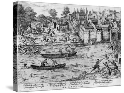 The Massacres of Tours, July 1562-Franz Hogenberg-Stretched Canvas Print