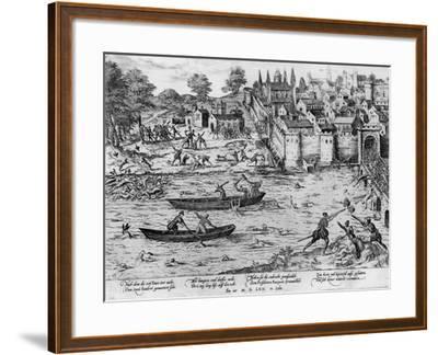 The Massacres of Tours, July 1562-Franz Hogenberg-Framed Giclee Print