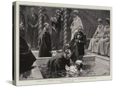 Baptism by Immersion in London, a Scene in the Metropolitan Tabernacle-Frederic De Haenen-Stretched Canvas Print