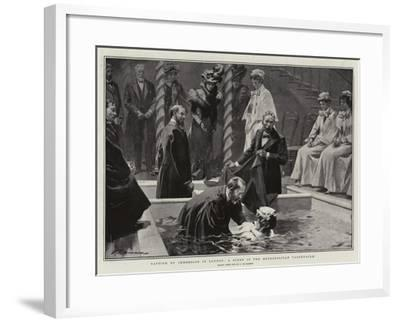 Baptism by Immersion in London, a Scene in the Metropolitan Tabernacle-Frederic De Haenen-Framed Giclee Print