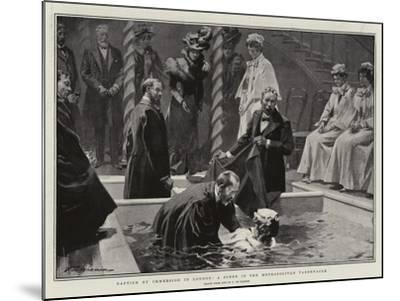 Baptism by Immersion in London, a Scene in the Metropolitan Tabernacle-Frederic De Haenen-Mounted Giclee Print