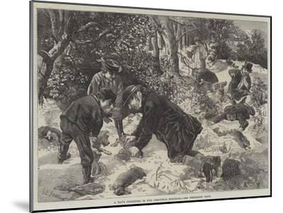 A Day's Ferreting in the Christmas Holidays-George Bouverie Goddard-Mounted Giclee Print