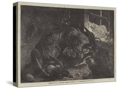 Foraging for a Christmas Dinner-George Bouverie Goddard-Stretched Canvas Print