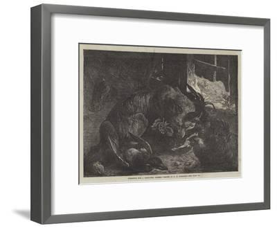 Foraging for a Christmas Dinner-George Bouverie Goddard-Framed Giclee Print