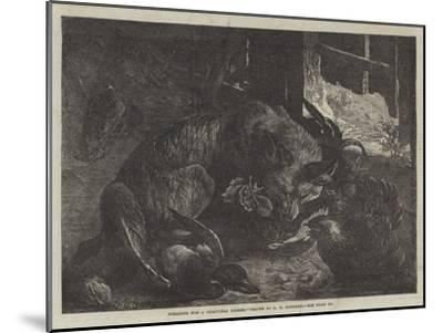 Foraging for a Christmas Dinner-George Bouverie Goddard-Mounted Giclee Print
