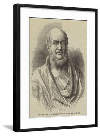 Bust of the Late Marquis of Salisbury-G Halse-Framed Giclee Print
