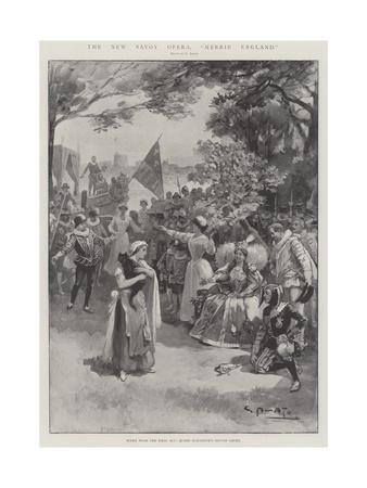 The New Savoy Opera, Merrie England-G.S. Amato-Framed Giclee Print