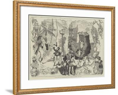 Scenes from the Drury-Lane and Covent-Garden Pantomimes-George Cruikshank-Framed Giclee Print