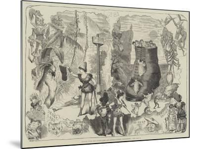 Scenes from the Drury-Lane and Covent-Garden Pantomimes-George Cruikshank-Mounted Giclee Print