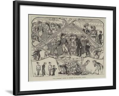 HMS Pinafore, Played by Children at the Opera Comique-George Cruikshank-Framed Giclee Print