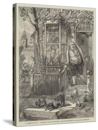 A Runaway Knock-George Cruikshank-Stretched Canvas Print