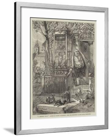 A Runaway Knock-George Cruikshank-Framed Giclee Print