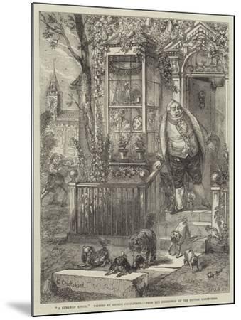A Runaway Knock-George Cruikshank-Mounted Giclee Print