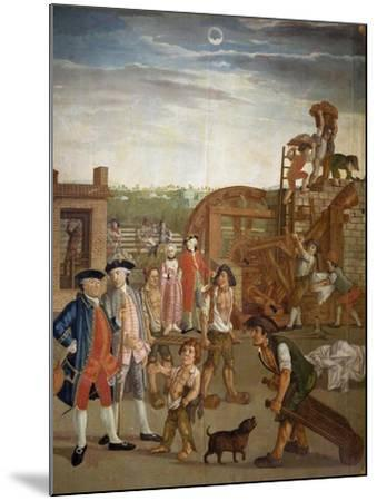 Courtyard with Machines for Fulling Fabrics, 1764-Gabriel Maria Rossetti-Mounted Giclee Print