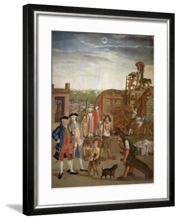 Courtyard with Machines for Fulling Fabrics, 1764-Gabriel Maria Rossetti-Framed Giclee Print