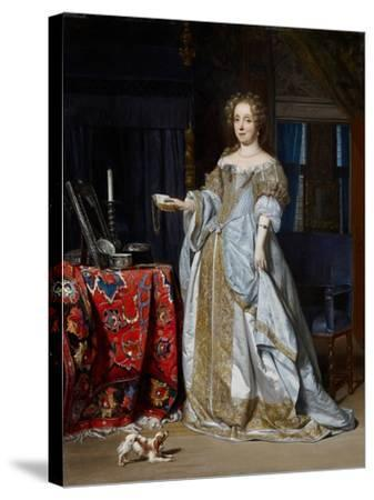 Portrait of a Lady, 1667-Gabriel Metsu-Stretched Canvas Print