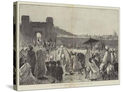 The Sultan of Morocco's Return to Mequinez from His Pilgrimage to Muley Edris-Gabriel Nicolet-Stretched Canvas Print