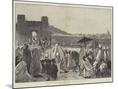 The Sultan of Morocco's Return to Mequinez from His Pilgrimage to Muley Edris-Gabriel Nicolet-Mounted Giclee Print